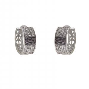 Creole Argint cu zirconia si simbolul infinitului, cod 2378 [0]