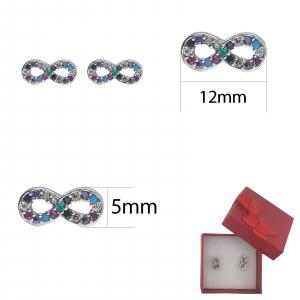 Cercei Argint infinit cu cristale multicolore, cod 2350 [1]