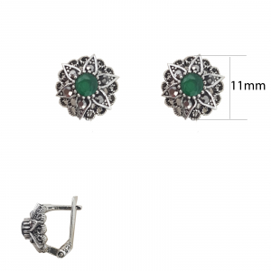 Cercei Argint cu marcasite, cod 2410A [1]