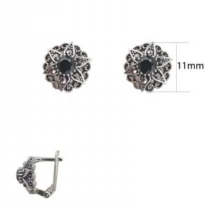 Cercei Argint cu marcasite, cod 2410C [1]