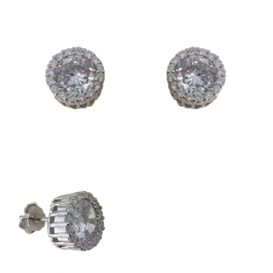 Cercei Argint cu zirconia albe 2238 [1]