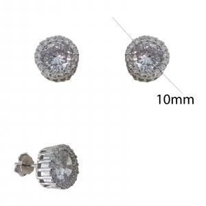 Cercei Argint cu zirconia albe 2238 [2]