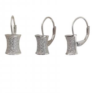 Cercei Sin din Argint cu multiple zirconii,cod 2396 [1]