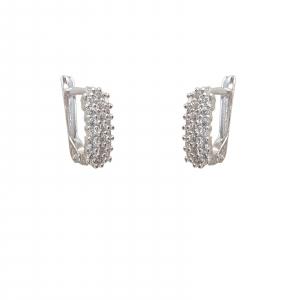 Cercei Argint cu zirconii albe, cod 2411 [0]