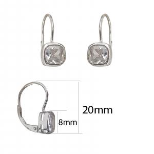 Cercei  Shiny din argint si inchidere clasica,cod 2468 [1]