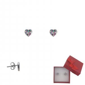 Cercei Argint Colour Heart,cod 2347S [0]
