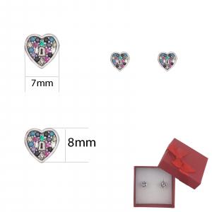 Cercei Argint Colour Heart,cod 2347S [1]