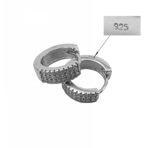 Creole Argint 925% de 14mm cu CZ albe [1]