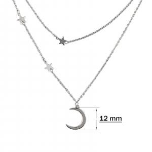 Colier Argint 925% dublu,Moon&Stars [1]