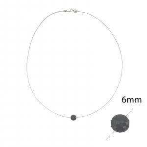 Colier Argint cu Onix pe silicon transparent 2327A [1]