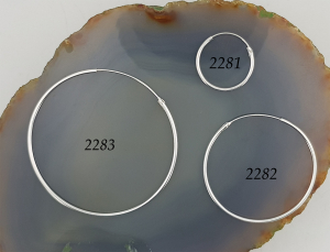 Cercuri clasice Argint 18mm, cod 2281 [3]