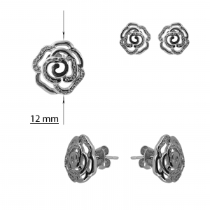 Cercei Argint 925% cu zirconia albe [1]