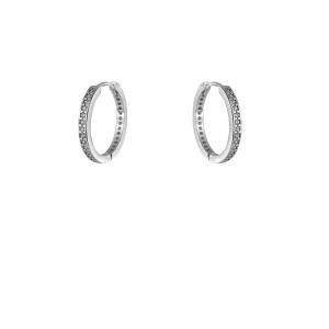 Creole Argint 925% de 18mm  cu CZ alb [0]