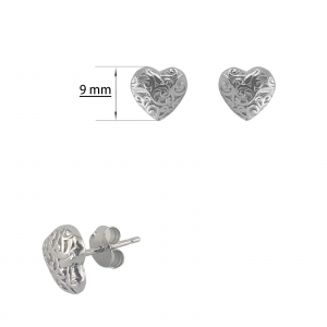 Cercei inimioara din Argint 925% [1]