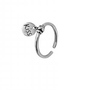 Inel Argint 925% reglabil Kiss [0]