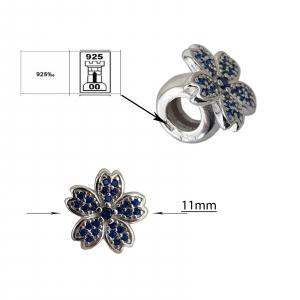 Talisman Argint 925% Blue Flower [2]