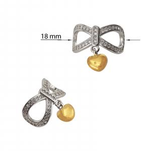 Talisman Argint Golden Heart [2]