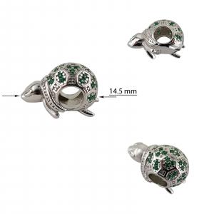 Talisman Argint 925% Green Turtle [2]