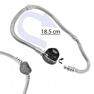 Bratara Argint 925% charm cu inchizatoare inimioara [3]