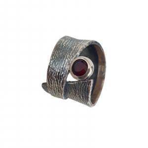 Inel Argint-Antracit cu piatra rubinie,cod 1540 [1]
