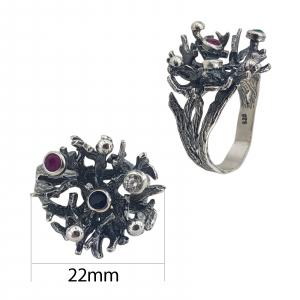 Inel Argint 925%  cu aspect patinat-2154B [2]