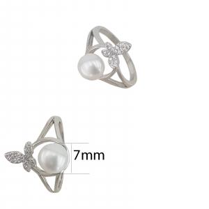 Inel Argint cu perla cultura si zirconia, cod 2384 [1]