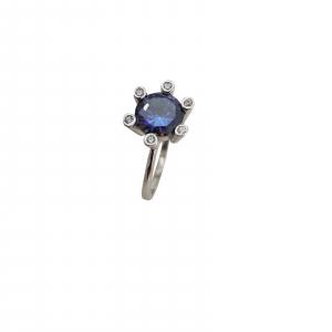 Inel Argint cu tanzanit, cod 2293 [0]