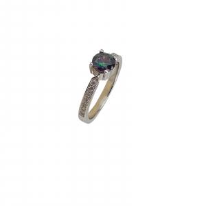 Inel Argint 925% si Topaz Mistic [1]