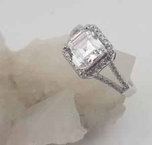 Inel Argint 925% cu zirconia de 7mm, cod 1554 [2]