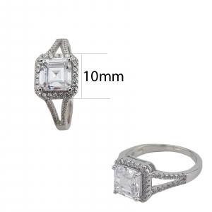 Inel Argint 925% cu zirconia de 7mm, cod 1554 [4]