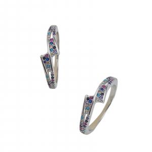 Inel Argint 925% cu zirconii multicolore 2207 [0]