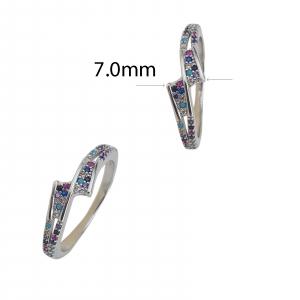 Inel Argint 925% cu zirconii multicolore 2207 [2]