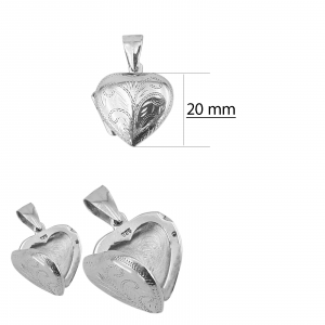 Medalion Argint 925% in forma de inima care se deschide [1]