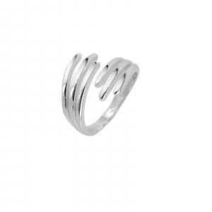 Inel Argint 925% reglabil Double Nail [0]
