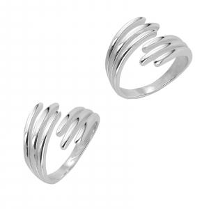 Inel Argint 925% reglabil Double Nail [1]