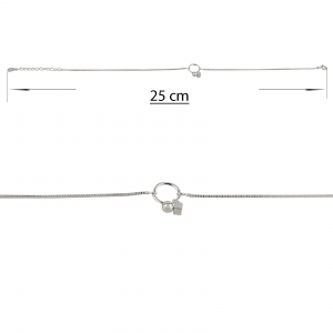 Bratara picior Argint 925% Dangling Circle [1]