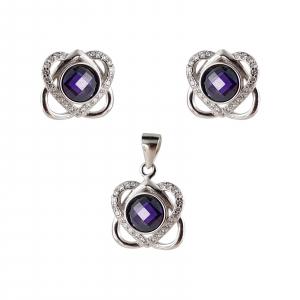 Set Argint 925% Purple Heart [0]