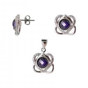 Set Argint 925% Purple Heart [1]