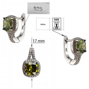 Set Argint 925% Mystic Green [3]