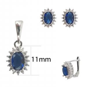 Set Argint cu zirconii albastre , cod 2415A [1]