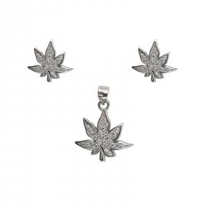 Set Argint in forma de frunza,cod 2437 [0]