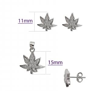 Set Argint in forma de frunza,cod 2437 [1]