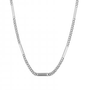 Lant Argint 925% barbatesc, model grumetta cu placute [1]