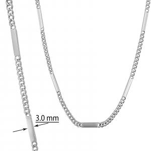 Lant Argint 925% barbatesc, model grumetta cu placute [0]