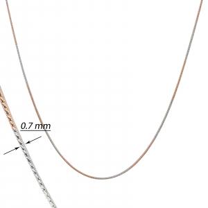 Lant Argint 925% bicolor , cu alternante auriu-rose si argintiu rodiat [1]