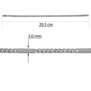 Bratara Argint 925% model grumetta cu placute, [2]