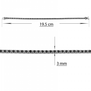Bratara Argint 925% cu zirconii negre [1]