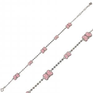 Bratara Argint 925% cu fluturasi roz [1]