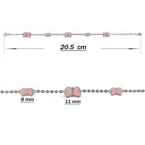 Bratara Argint 925% cu fluturasi roz [2]