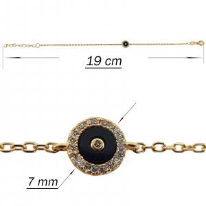Bratara Argint 925% placata cu auriu si lungime reglabila [2]